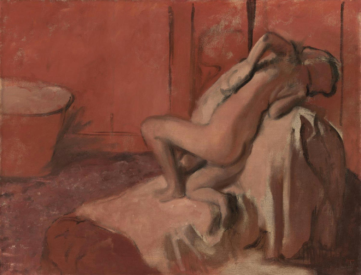 Edgar Degas, After the Bath (Woman Drying Herself), c. 1896, Philadelphia Museum of Art, Philadelphia, PA, USA.
