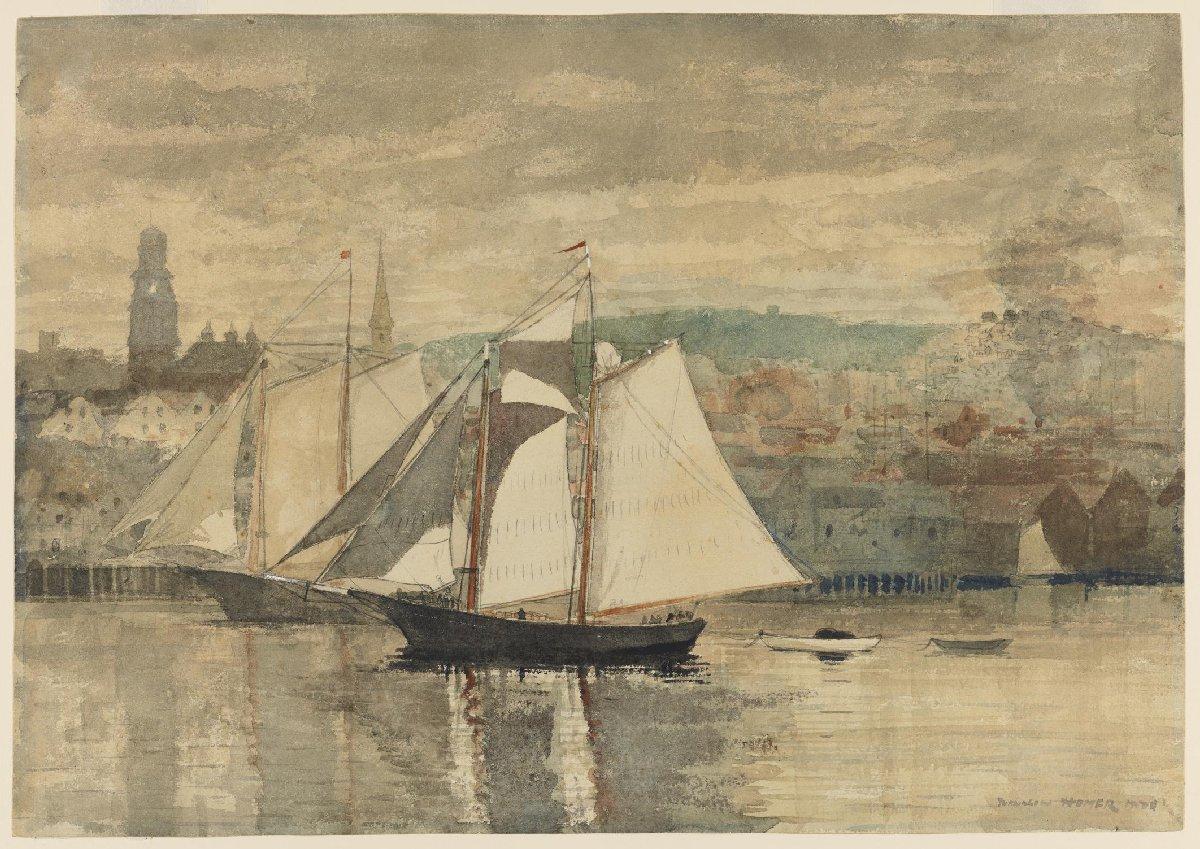 Gloucester Schooners and Waterboat